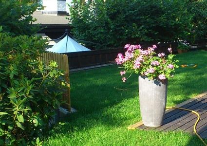 Støttemur for utvidelse av hageareal